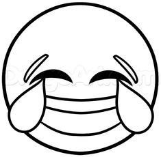 how to draw laughing emoji step 4