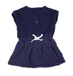 Trois Moutons dress, navy dress, dress for baby, cotton dress for girls