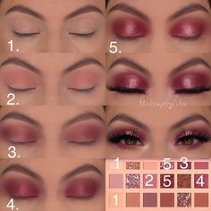 Huda Beauty eye shadow palette step by step tutorial, an easy to do eye makeup look for green, Hazel or brown eyes. Huda Beauty eye shadow palette step by step tutorial, an easy to do eye makeup look for green, Hazel or brown eyes. Huda Beauty Eyeshadow Palette, Makeup Palette, Eyeshadow Makeup, Huda Palette, Makeup Monolid, Eyeshadow Steps, Easy Eyeshadow, Huda Beauty Makeup, Drugstore Makeup