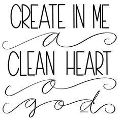 Day 24 // Psalm 51:10 #thelifeinbetween #30daysofbiblelettering