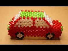 How to make beaded car part গাড়ি,beaded toy car – Life and Relax Beaded Shoes, Beaded Bags, Beaded Crafts, Diy Ribbon, Bead Jewellery, Bead Art, Car Parts, Perler Beads, Beading Patterns