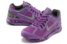 Nike Air Max 2013 Womens Purple Silver Gray Running Shoes