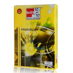 Price Rs.2,070/- Buy #Yellow BILT Premium Copy Paper White A4 75GSM Box of 10 Reams Online in India