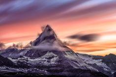 Another Brilliant Sunset Over the Matterhorn this past Summer [3840x2560] [OC]   landscape Nature Photos