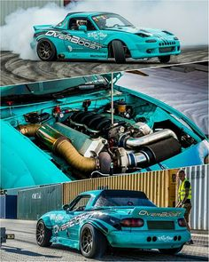 @overboost_driftteam +500hp #TopMiata #Denmark #BMW V8 Turbo powered…