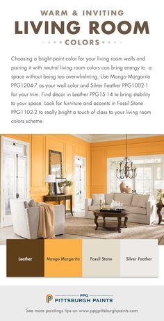 Houzz color of the week mango use a bit of bold fun - Paint colors to make a room look brighter ...