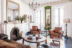 How to Get That Cool Brooklyn Brownstone Style at Home via @MyDomaine