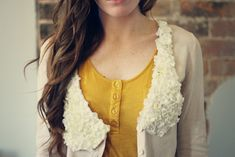 Floral Collar DIY...use an old cardigan...how to...