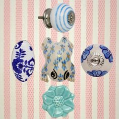 Draw Knobs, Decorative Knobs, Ceramic Knobs, Clear Sky, Love Blue, Knobs And Pulls, Ocean Waves, Vintage Ceramic, Calm