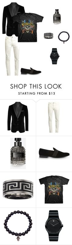 """Rock Disco Nigth"" by lgcrespo on Polyvore featuring BOSS Black, Yves Saint Laurent, Valentino, ALDO, Nialaya, Movado, men's fashion y menswear"