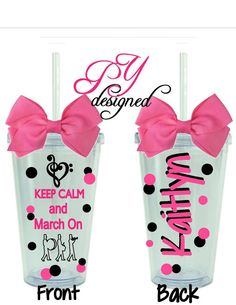 Keep Calm and March On Acrylic Tumbler perfect for by PYdesigned, $14.00