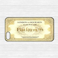 Hogwarts Express Train Ticket iPhone 5 Case,Harry Potter Platform 9 3/4 Train Ticket iPhone 5 Hard Case,cover skin case for iphone 5 case on Etsy, $6.99