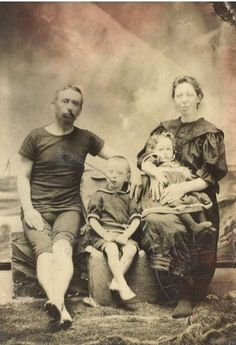 The Heron Family, vacationing in Cape May circa 1898. Taken in a photo studio. www.capemaymac.org