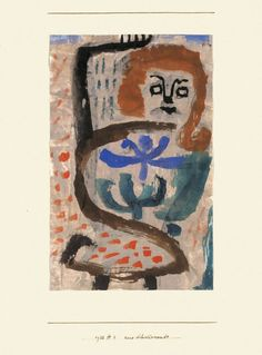A swarming by Paul Klee Size: 17.8x28 cm