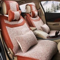 High Grade Plush Material Colorful Textured Universal #Car #Seat #Cover