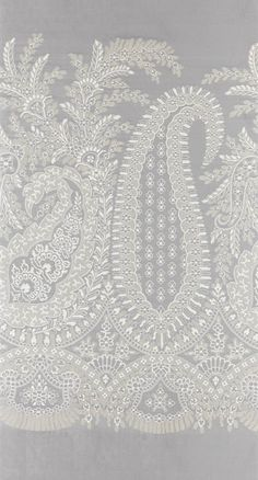 Amritsar Border designed by Ottilie Stevenson is a seamlessly woven panel of an intricate paisley design running along the base of the fabric. Textiles, Textile Patterns, Textile Prints, Ikat Pattern, Paisley Pattern, Pattern Design, Border Embroidery Designs, Embroidery Art, Paisley Wallpaper