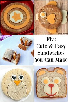 Five Cute and Easy Sandwiches You Can Make #bentolunch #backtoschool #cutefood