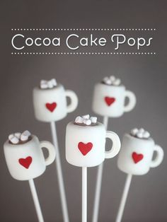 Cocoa Cake Pops. Use this instruction to do a wedding cake on a stick!