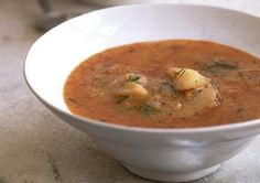 Hungarian Paprika Potato Soup  is a vegetarian soup with some zest! Get the recipe and try it at home!