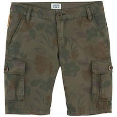 Armani Junior - Khaki cotton bermudas with cargo pockets - 101275