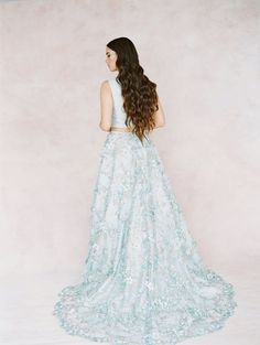 Dusty Blue Bridal Separates Wedding Skirt, Bridal Skirts, Lace Wedding, Bridal Lace, Wedding Dresses, Blue Bridal, Bridal Gowns, Bridal Separates, Wedding Dress Separates