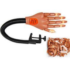 Professional Nail Trainer Tools practice hand Finger Beauty Nail Salon Equipment Adjustable nail training hand 100 Nail art Tips