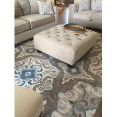 Andover Mills Natural Taupe & Teal Area Rug | AllModern