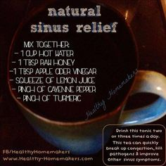 A remedy for sinus and congestion
