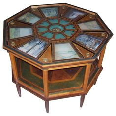 Very Rare Unusual And Eclectic Octagonal Coffee Table