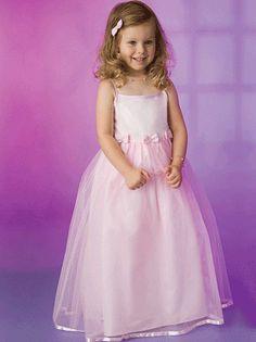 Adorable pink flower girl dress