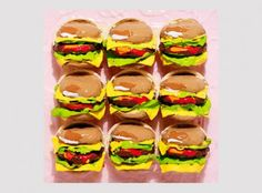 Pink by Boo Ritson at Julian Page - Printed Editions - Ref 15314 Burger Places, Still Life Artists, Artistic Installation, Gcse Art, Recipe Images, Fruit And Veg, Food Illustrations, Food Art, Amazing Art