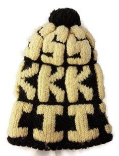 a98cd0635e8 Vintage 70 s Skiing Ski Sock Hat Tobbagan Cap Toque Black   White Small  Medium  Unbranded