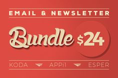 Email & Newsletter Bundle #1 by Maesto on Creative Market  #email #newsletter #template #marketing