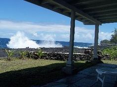 The oceanfront Alohahouse property sits spectacularly oceanfront on the pristine Puna Coast in the Hawaiian Paradise Park subdivision just south of Hilo on the Big Island of Hawaii. This 3 bedroom, 2 ...