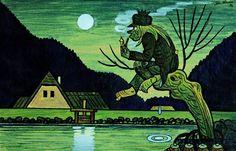 Josef Lada - Hastrman, Městská galerie v Litomyšli Illustrations, Children's Book Illustration, The Good Soldier Svejk, Water Drip, Rusalka, Water Animals, Social Art, Good Neighbor, Mythology