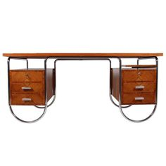 Rare 1934 Desk by A.L. Colombo | From a unique collection of antique and modern desks at http://www.1stdibs.com/furniture/storage-case-pieces/desks/