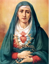 The Seven Sorrows of the Blessed Virgin Mary: The Queen of Martyrs has never ceased to encourage Her children on earth to bear their own crosses, which complement the Passion of Christ.   #Catholic #OurLadyofSorrows