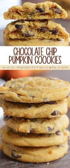 Amazing Chocolate Chip Pumpkin Cookies