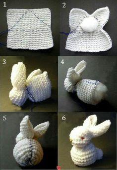 Zajíček - pletení Tit lapin... ...