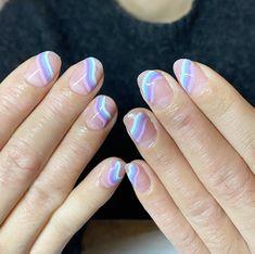 Trendy Nail Art, Stylish Nails, Cute Nail Designs, Acrylic Nail Designs, Art Designs, Confetti Nails, Tie Dye Nails, Watermelon Nails, Nail Techniques