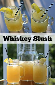 Whiskey Slush. Great Summer drink recipe.