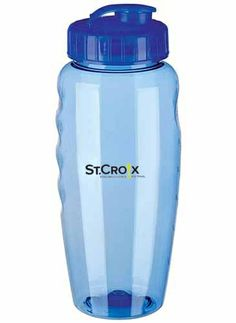 Eco Gripper Poly-Clear Bottle - 31 oz.  STC# 262879  This squeezable sport bottle is earth friendly and great for the gym.  Flip-top, drink-thru super sipper lid. Easy-to-fill, wide mought make adding ice cubes or stirring simple. Shatterproof. Recyclable, bio-degradable. Made with recycled materials. Hand wash only.
