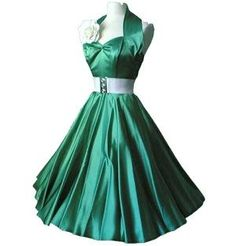 Zielona satynowa