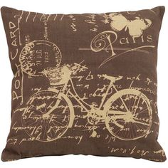 Bicyclette Pillow