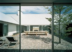 Courtyard at the Baron House by John Pawson, in Österlen, Sweden.
