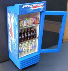 1 12 Scale Single Door Pepsi Cooler Dolls House Miniature Pub Bar Accessory HW | eBay