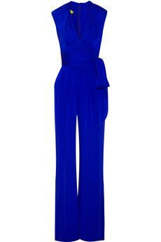 Belted stretch silk jumpsuit - -simple...elegant...causal...yet...check the texture first..I'm a texture chick....