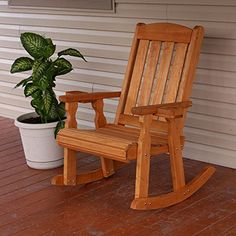 Amish Heavy Duty 600 Lb Mission Pressure Treated Rocking Chair With Cupholders (Cedar Stain) * Hope that you do like the photo. (This is an affiliate link) Rocking Chair Plans, Wooden Rocking Chairs, Outdoor Rocking Chairs, Adirondack Chairs, Outdoor Glider, Brown Armchair, Mission Chair, Comfortable Office Chair, Glider Chair