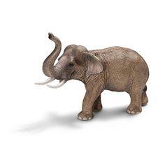 Schleich Asian Male Elephant Toy Figure