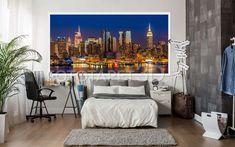 La FotoTapet 3D.ro găsești noi modele de fototapet personalizat cu orașe. Decorează-ți camera cu un fototapet special creat pentru dimensiunile alese de tine. Tapestry, Night, Home Decor, Livres, Photo Wallpaper, Hanging Tapestry, Home Interior Design, Tapestries, Decoration Home